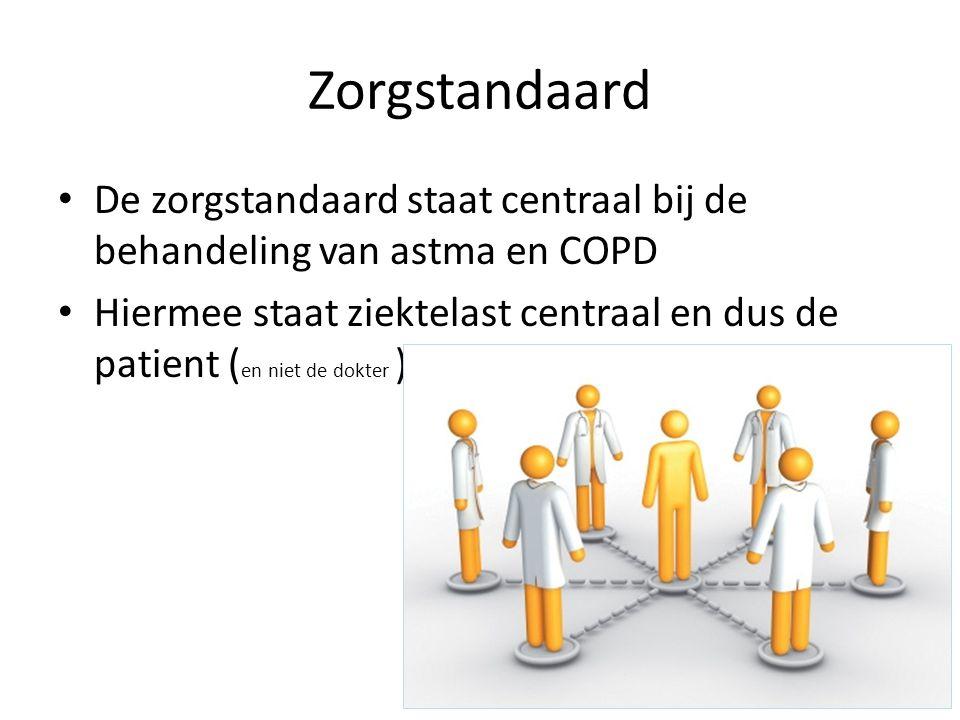 Zorgstandaard De zorgstandaard staat centraal bij de behandeling van astma en COPD.