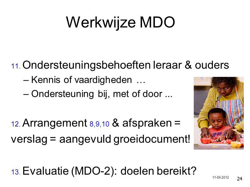 Werkwijze MDO verslag = aangevuld groeidocument!