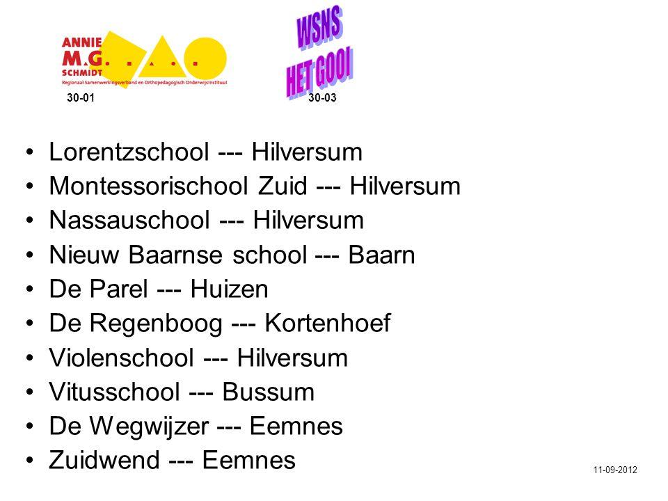 Lorentzschool --- Hilversum Montessorischool Zuid --- Hilversum