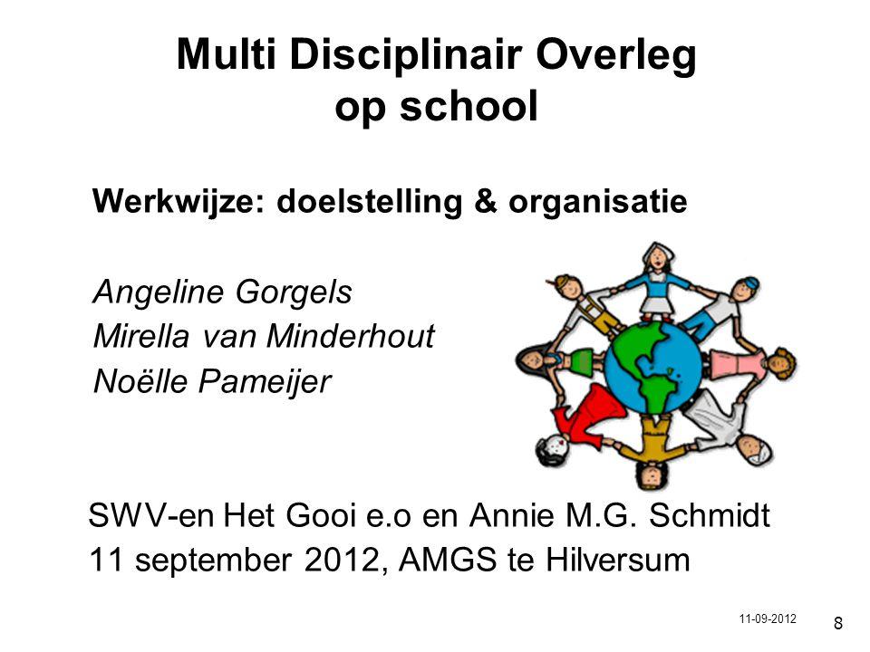 Multi Disciplinair Overleg op school