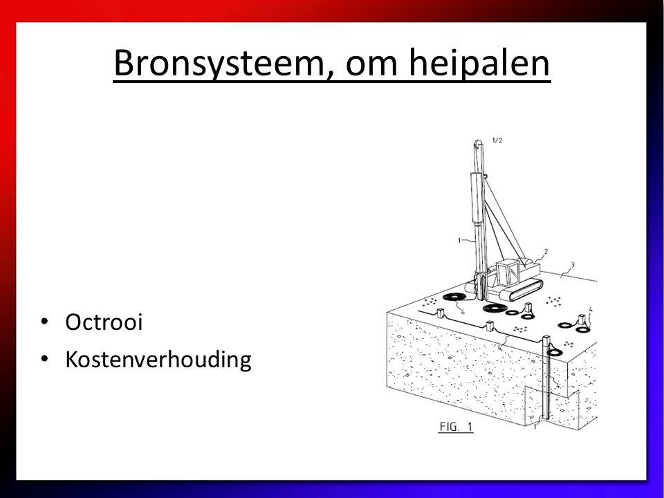 Bronsysteem, om heipalen