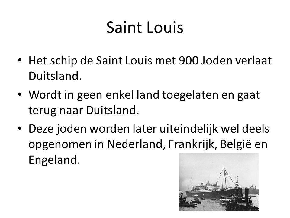 Saint Louis Het schip de Saint Louis met 900 Joden verlaat Duitsland.