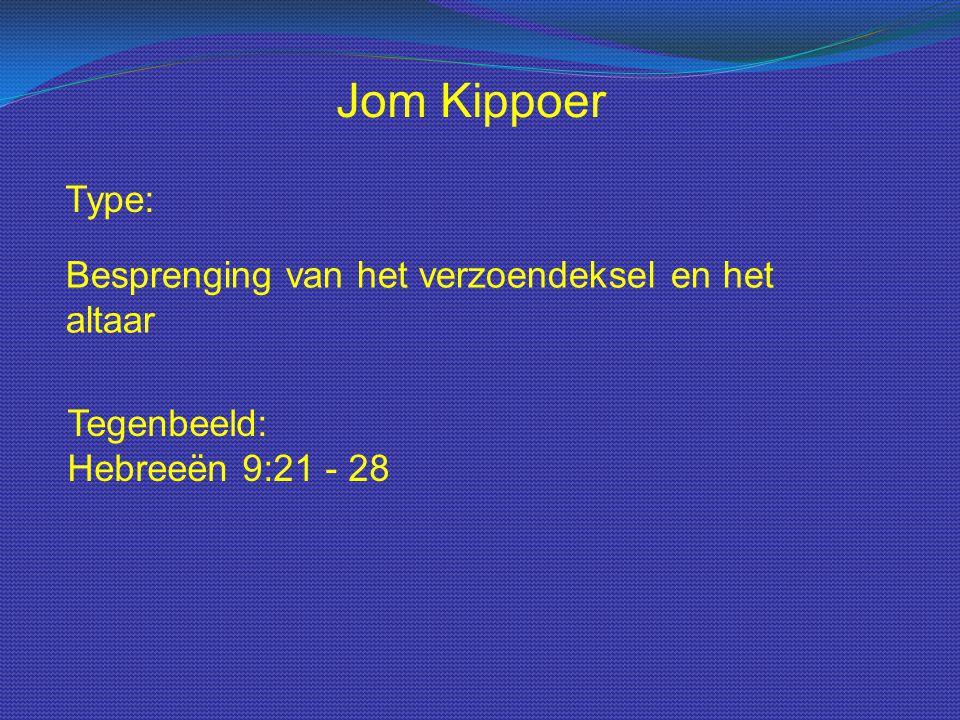 Jom Kippoer Type: Besprenging van het verzoendeksel en het altaar