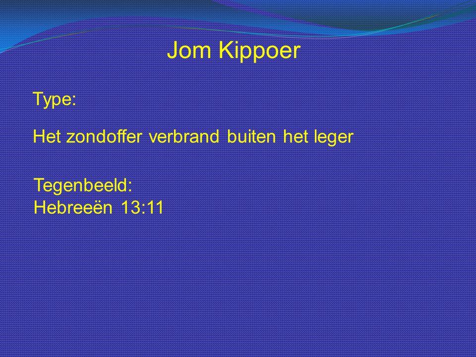 Jom Kippoer Type: Het zondoffer verbrand buiten het leger