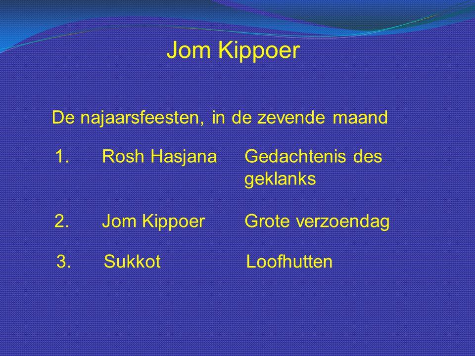 Jom Kippoer De najaarsfeesten, in de zevende maand