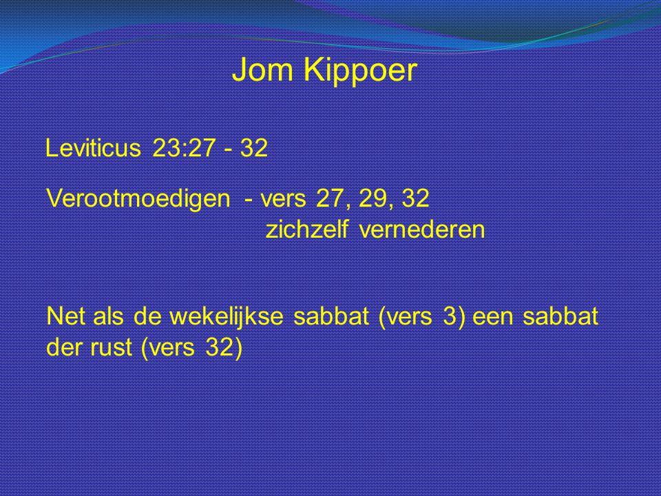 Jom Kippoer Leviticus 23:27 - 32
