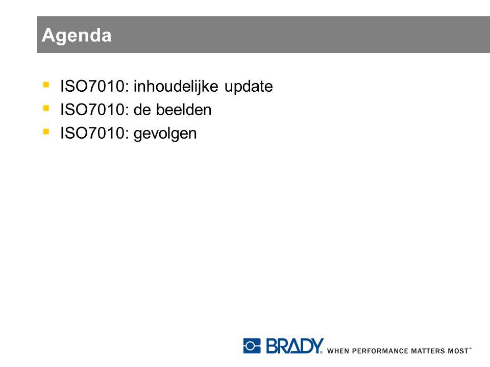 Agenda ISO7010: inhoudelijke update ISO7010: de beelden