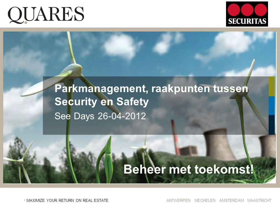 Parkmanagement, raakpunten tussen Security en Safety