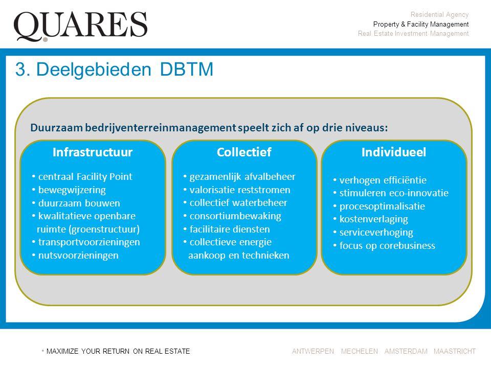 3. Deelgebieden DBTM Infrastructuur Collectief Individueel