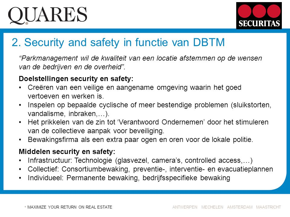 2. Security and safety in functie van DBTM