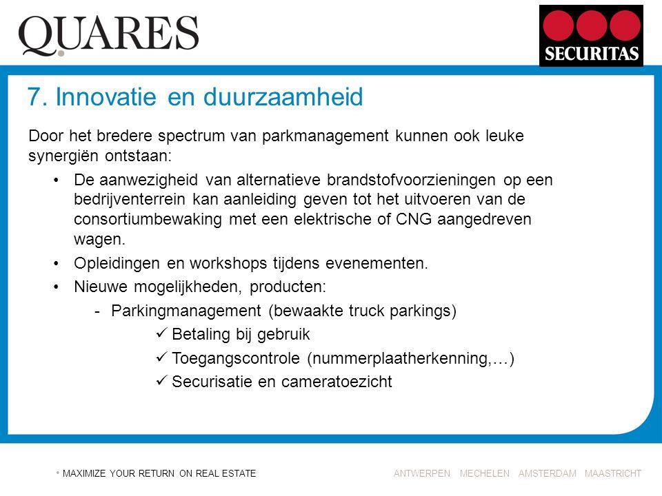 7. Innovatie en duurzaamheid