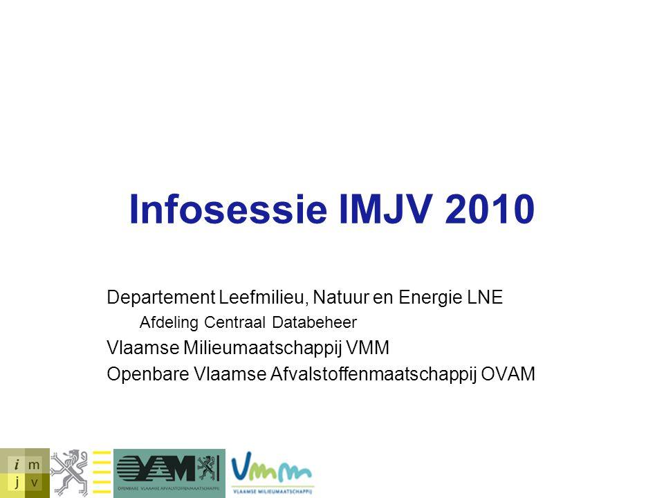 Infosessie IMJV 2010 Departement Leefmilieu, Natuur en Energie LNE