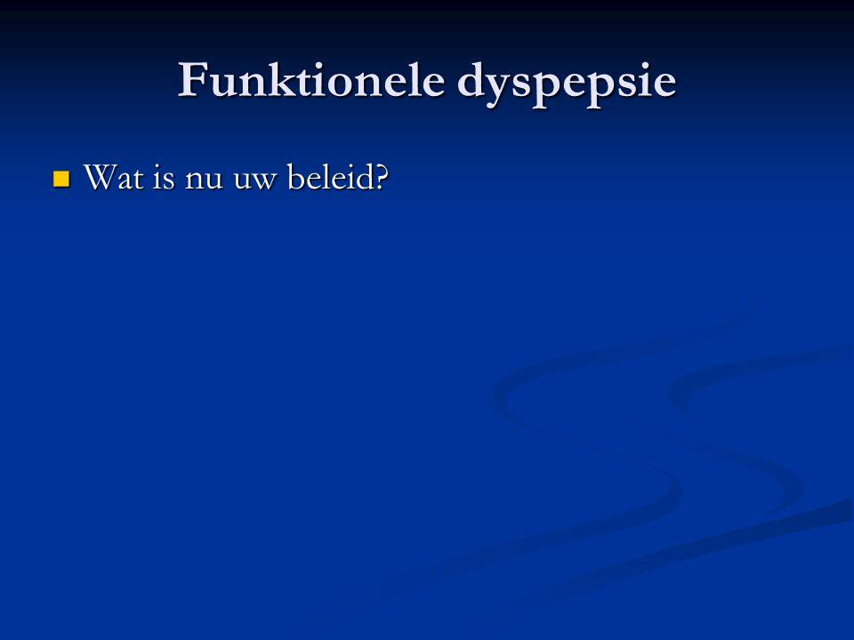 Funktionele dyspepsie