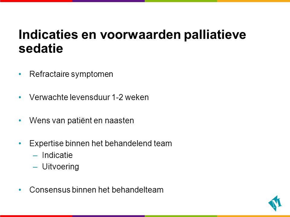 Indicaties en voorwaarden palliatieve sedatie