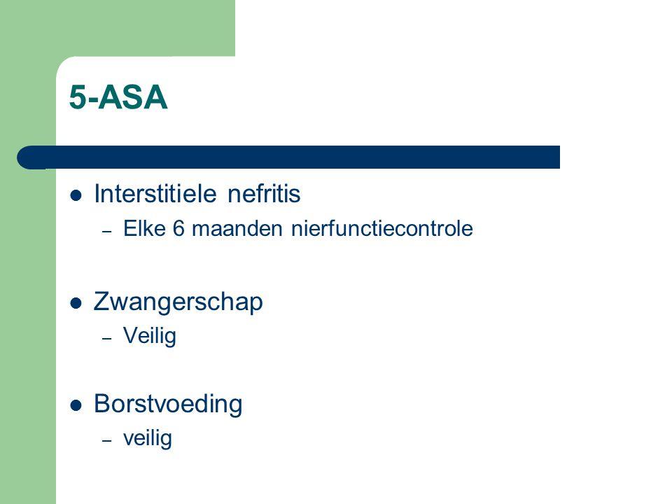 5-ASA Interstitiele nefritis Zwangerschap Borstvoeding