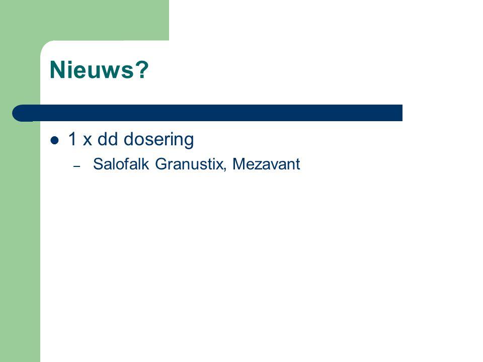 Nieuws 1 x dd dosering Salofalk Granustix, Mezavant