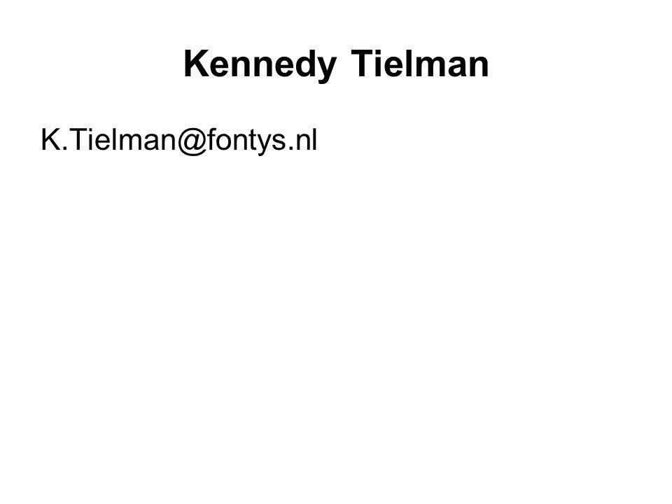 Kennedy Tielman K.Tielman@fontys.nl