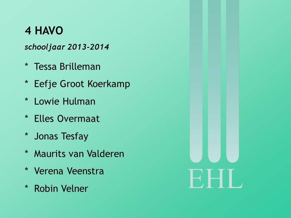 4 HAVO * Tessa Brilleman * Eefje Groot Koerkamp * Lowie Hulman