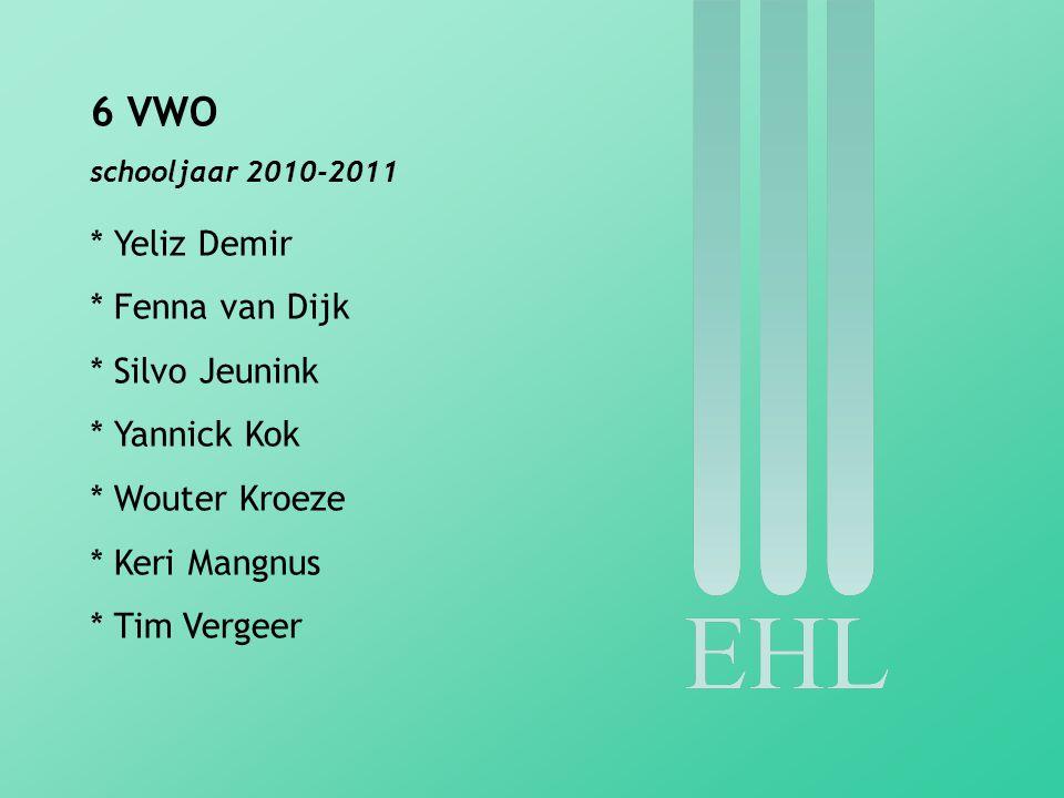 6 VWO * Yeliz Demir * Fenna van Dijk * Silvo Jeunink * Yannick Kok