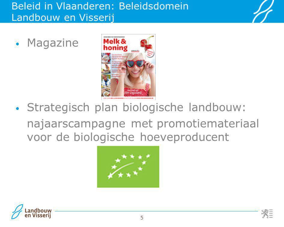 Beleid in Vlaanderen: Beleidsdomein Landbouw en Visserij