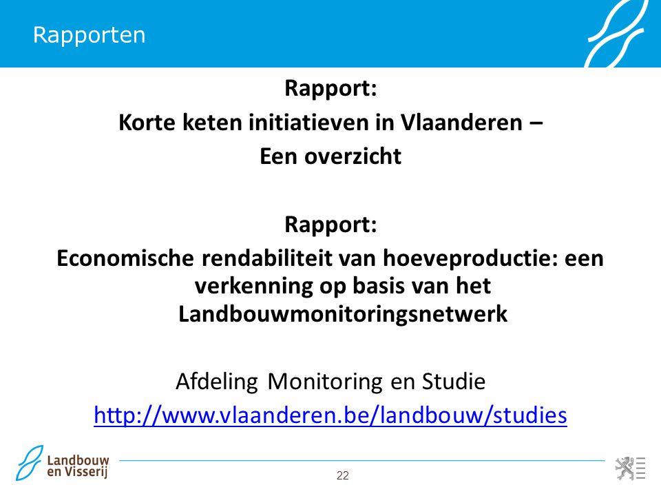 Korte keten initiatieven in Vlaanderen –