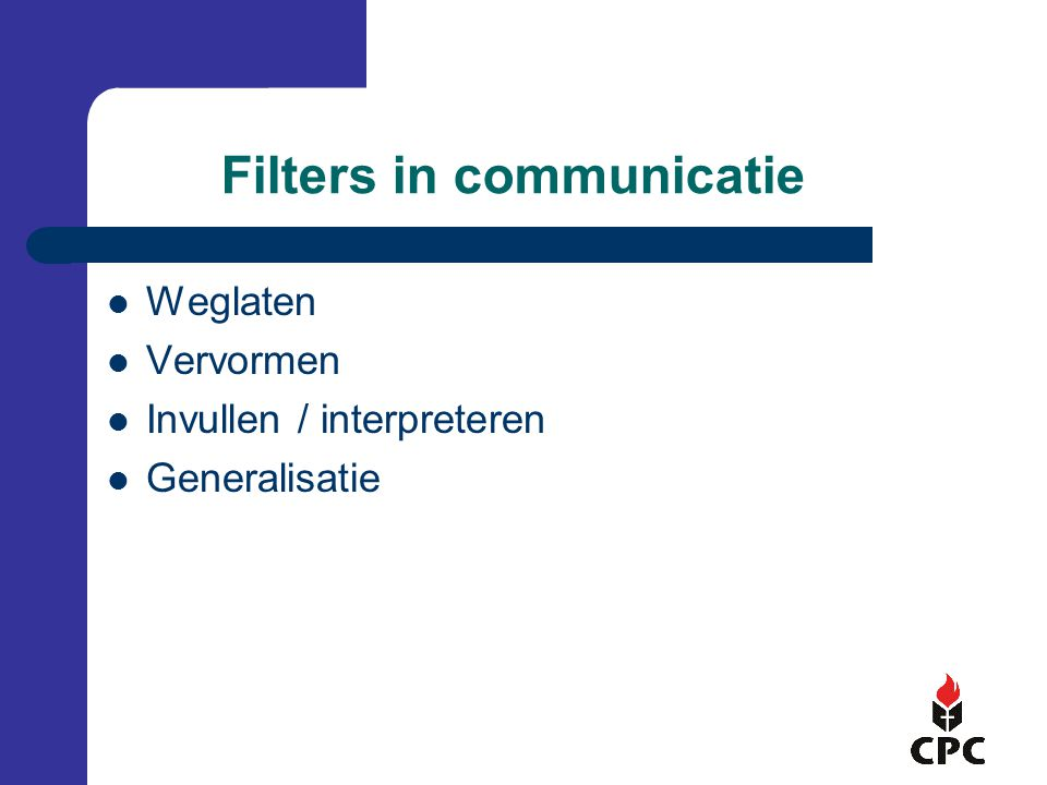 Filters in communicatie
