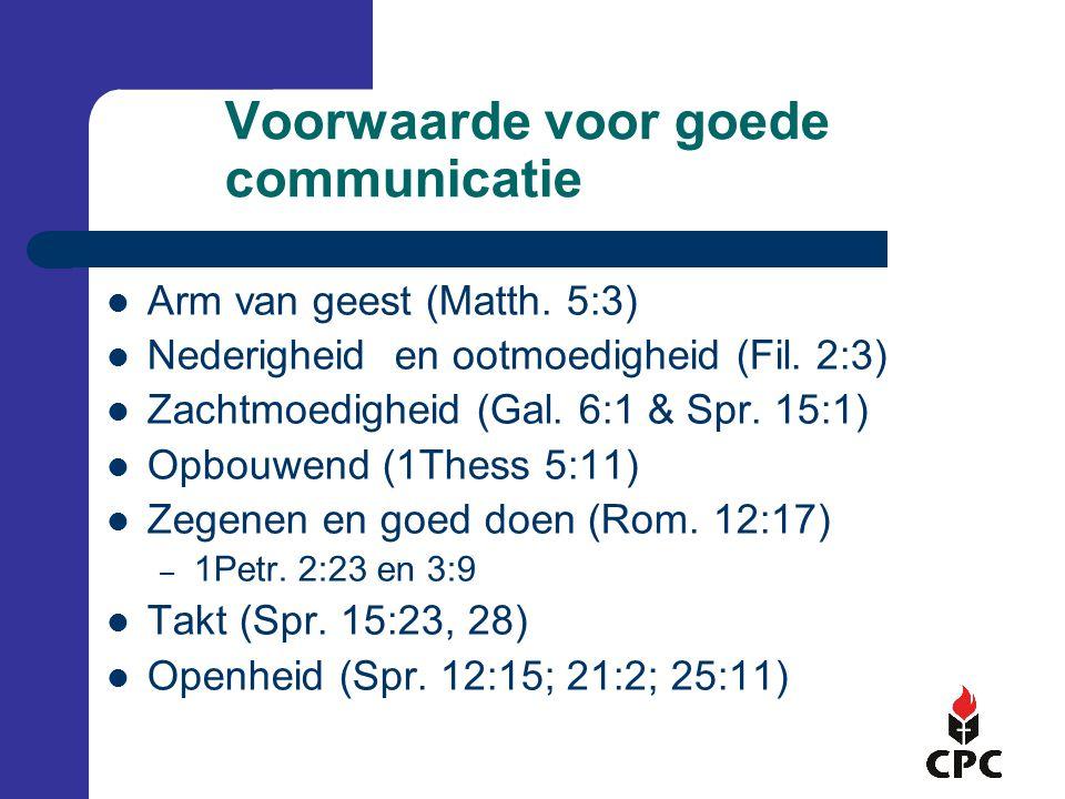 Voorwaarde voor goede communicatie
