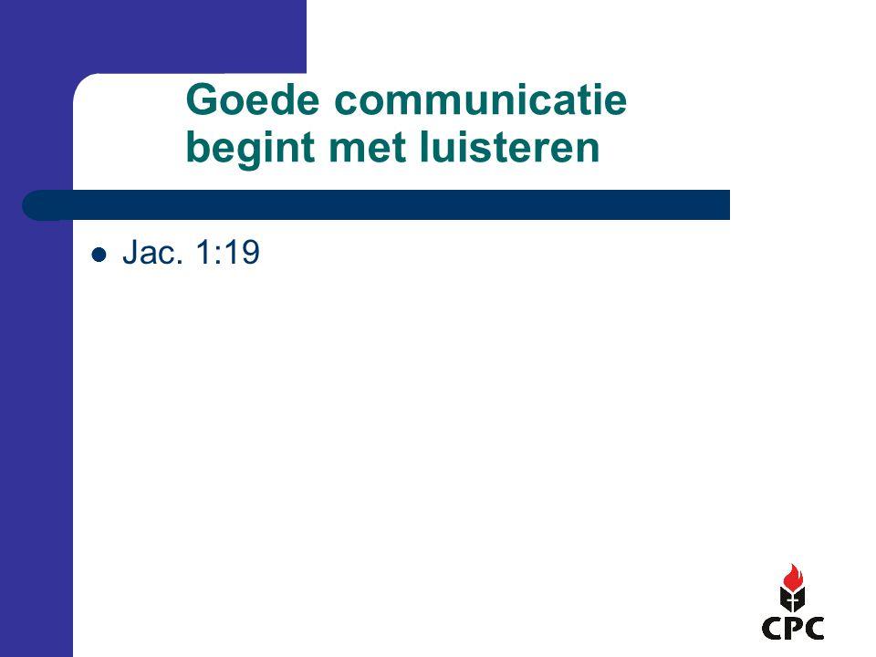 Goede communicatie begint met luisteren