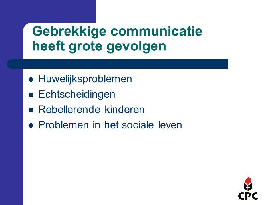 Gebrekkige communicatie heeft grote gevolgen