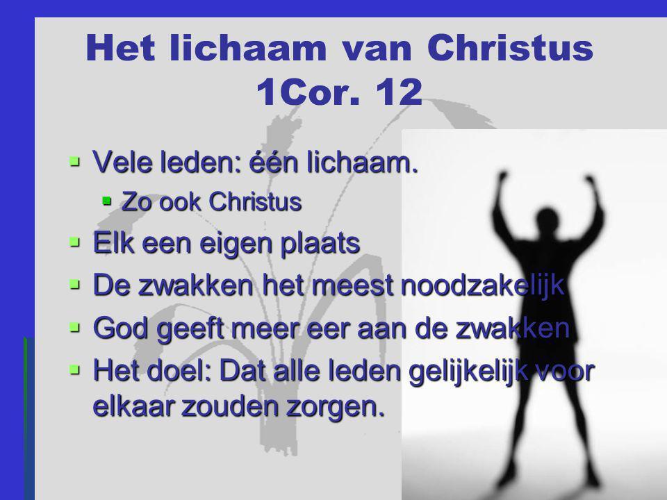 Het lichaam van Christus 1Cor. 12