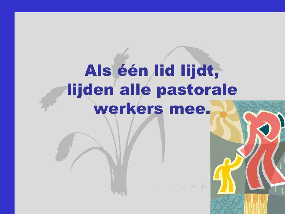 Als één lid lijdt, lijden alle pastorale werkers mee.