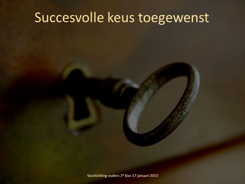 Succesvolle keus toegewenst