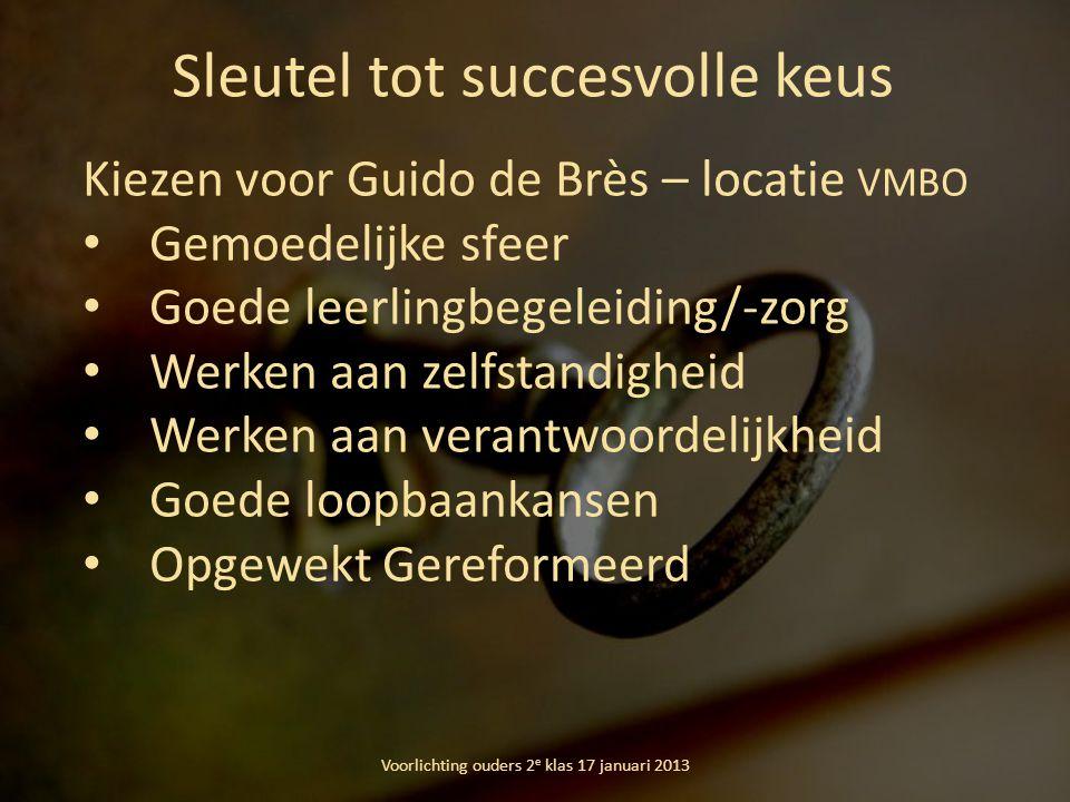 Sleutel tot succesvolle keus
