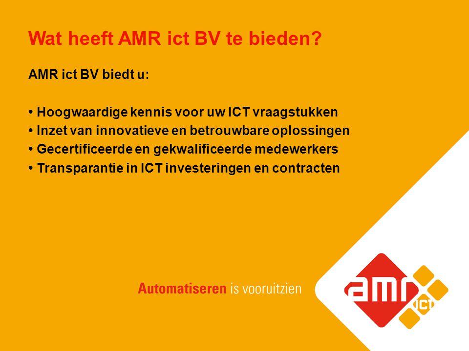 Wat heeft AMR ict BV te bieden