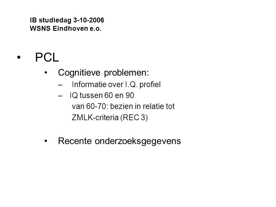 PCL Cognitieve problemen: Recente onderzoeksgegevens