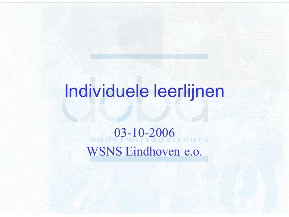Individuele leerlijnen