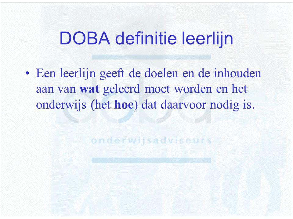 DOBA definitie leerlijn