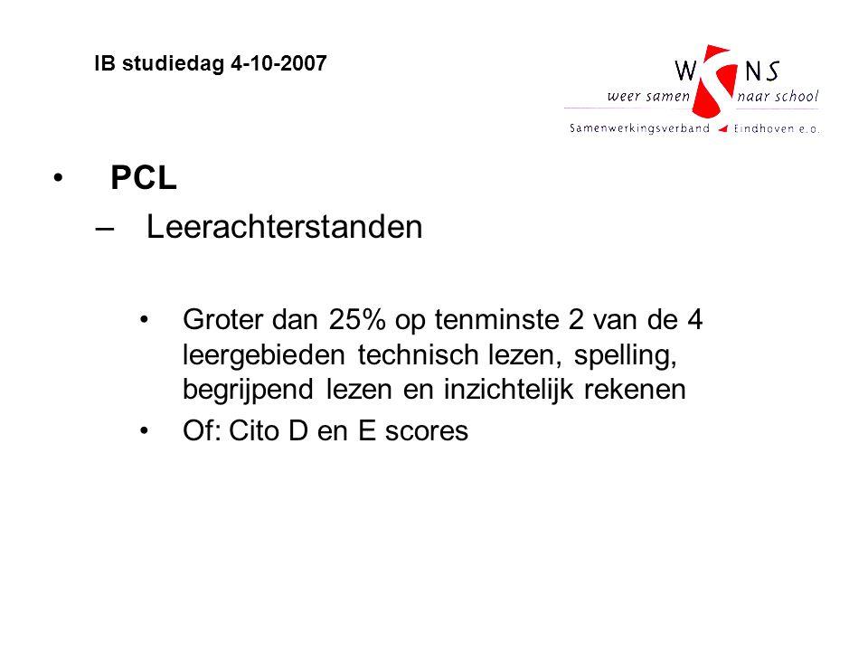 PCL Leerachterstanden