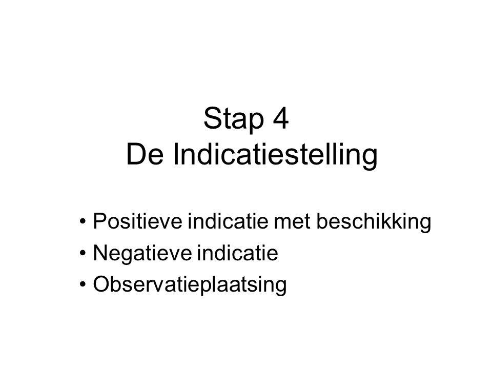 Stap 4 De Indicatiestelling