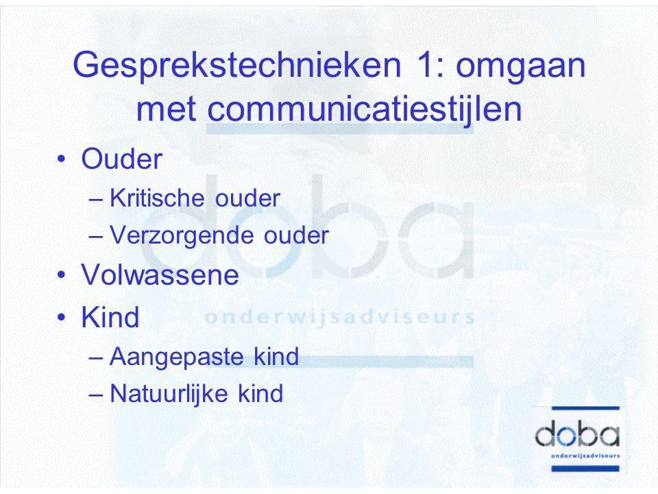 Gesprekstechnieken 1: omgaan met communicatiestijlen