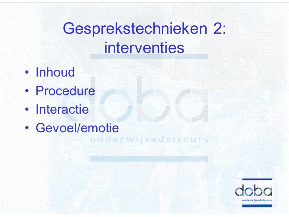 Gesprekstechnieken 2: interventies