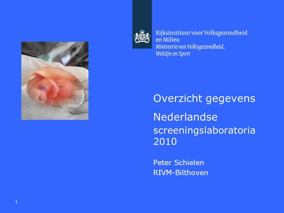 Overzicht gegevens Nederlandse screeningslaboratoria 2010