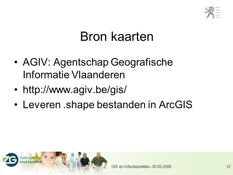 Bron kaarten AGIV: Agentschap Geografische Informatie Vlaanderen
