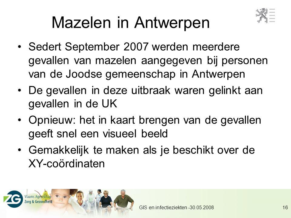 Mazelen in Antwerpen Sedert September 2007 werden meerdere gevallen van mazelen aangegeven bij personen van de Joodse gemeenschap in Antwerpen.
