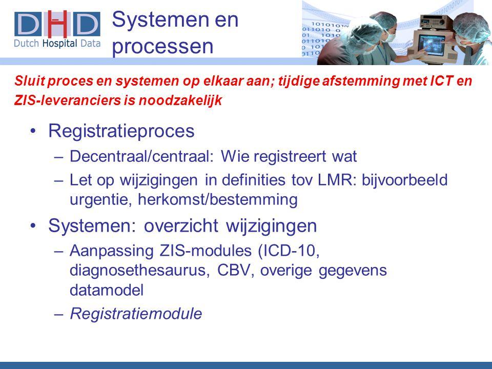 Systemen en processen Registratieproces