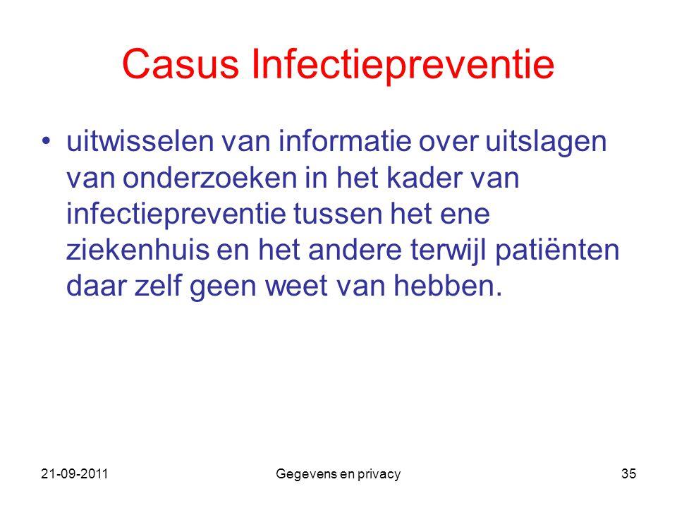 Casus Infectiepreventie