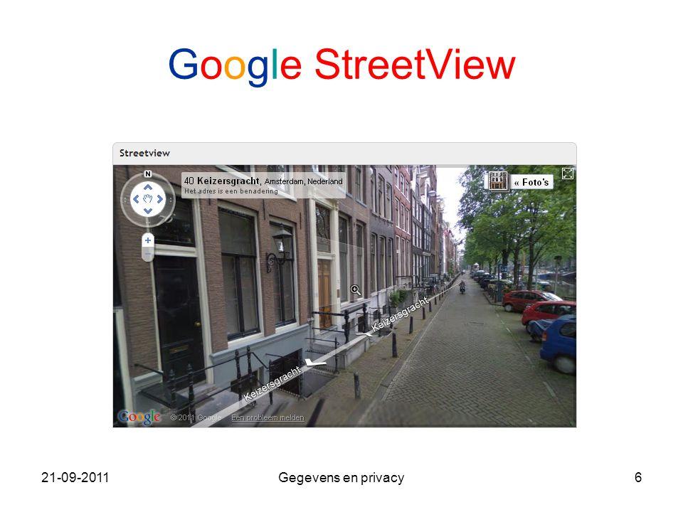 Google StreetView 21-09-2011 Gegevens en privacy