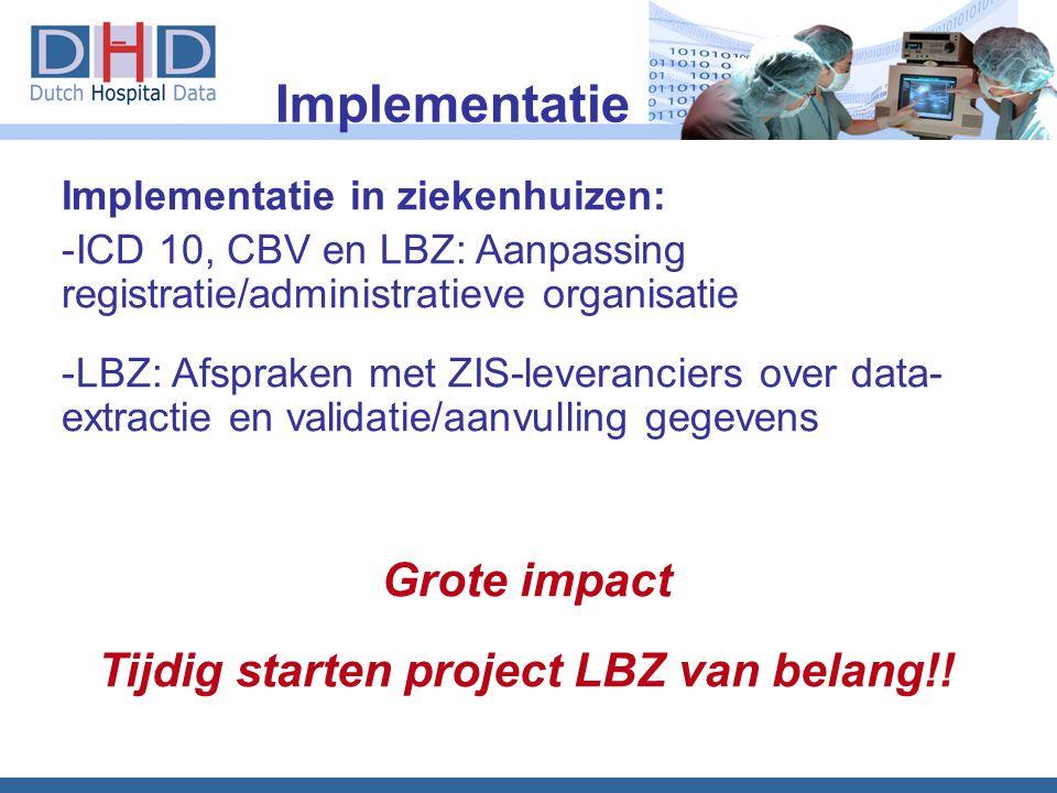 Tijdig starten project LBZ van belang!!
