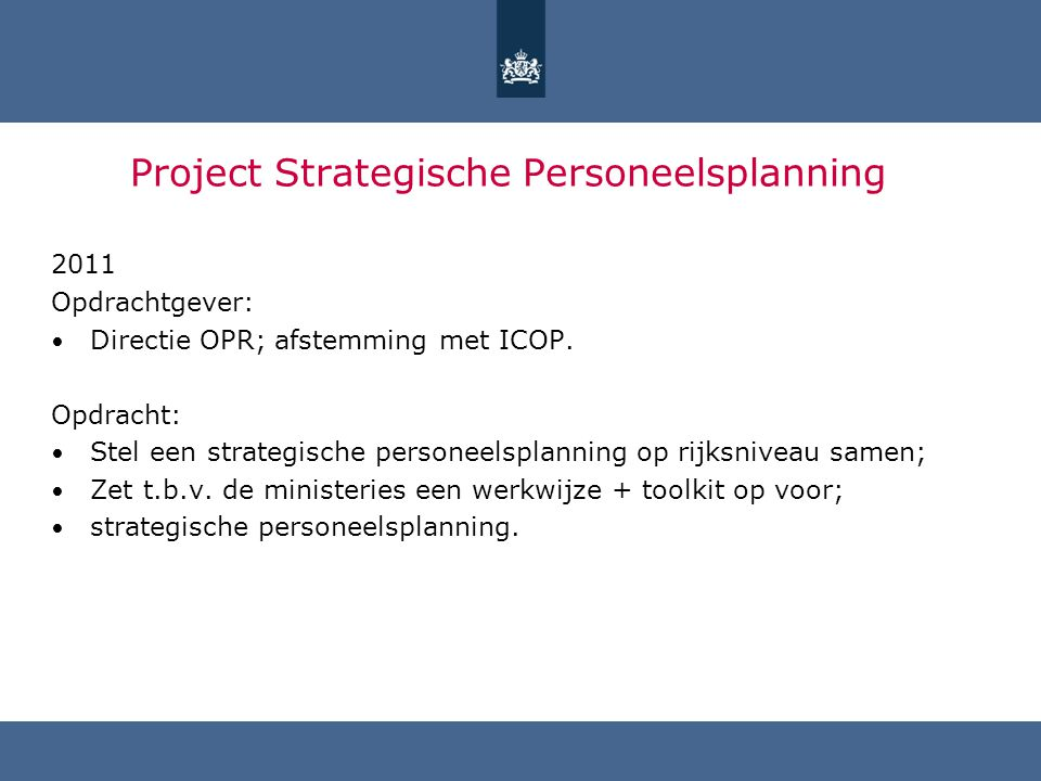 Project Strategische Personeelsplanning