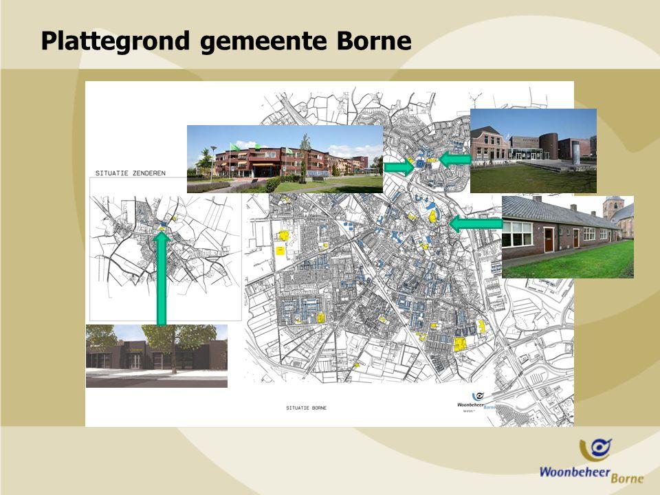 Plattegrond gemeente Borne